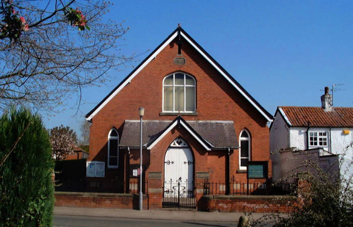 Cropwell Butler Methodist Chapel front view.