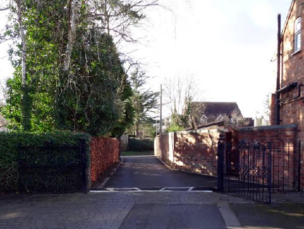 Village Hall road entrance